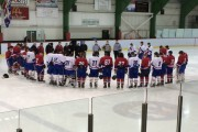 Midget BB Lakeshore Panthers and Tigers pay tribute to fallen 16 year old Ryan Marchand