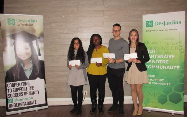 Desjardins gives thousands to students on the West Island