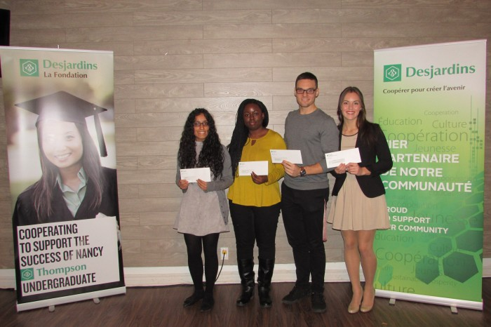 Desjardins gives thousands to students on the west island for Table 09 pointe claire