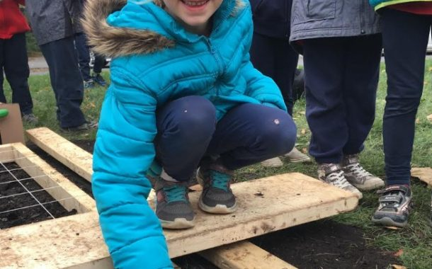 Beacon Hill Elementary School plants 1000 tulips for Canada's 150th