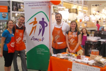 The Home Depot Canada Foundation is supporting AMCAL for the 4th consecutive year with the Home Depot Orange Door Project