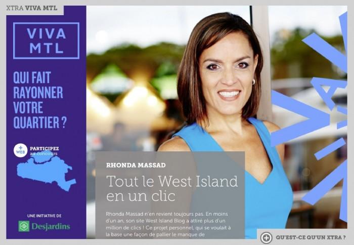 XTRA VIVA La Presse, Rhonda Massad, West Island Blog