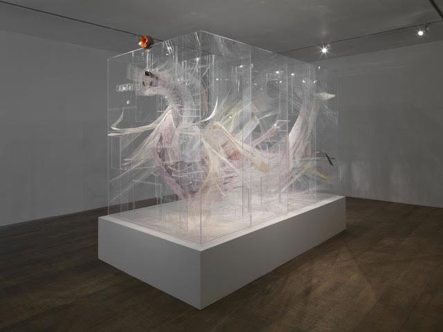 David Altmejd Le Ventre, 2012 Plexiglass, resin, thread, metal wire, acrylic gel, epoxy clay, coconut shells