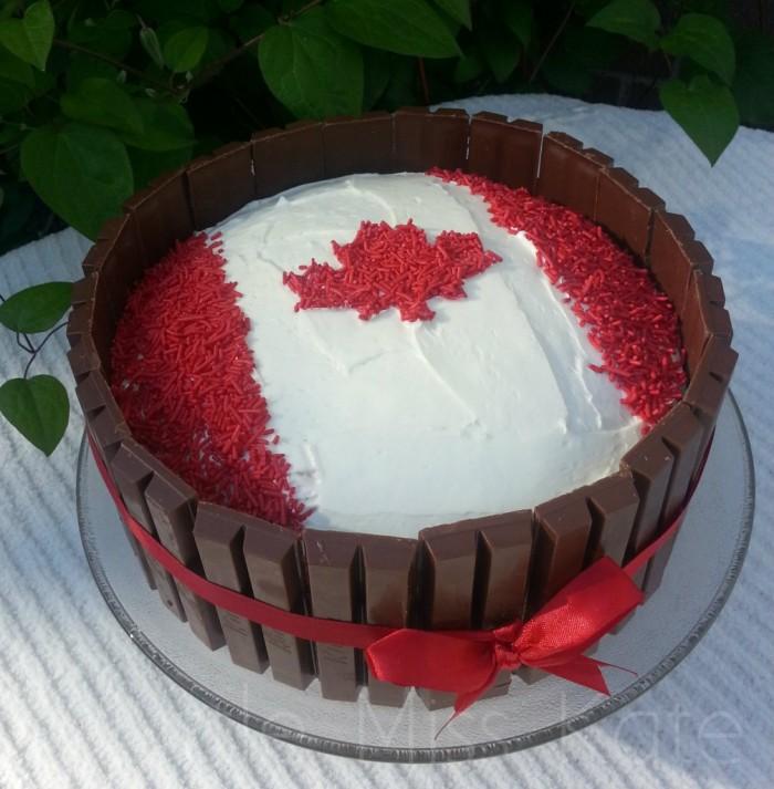 Kit Kat Canada Day Cake