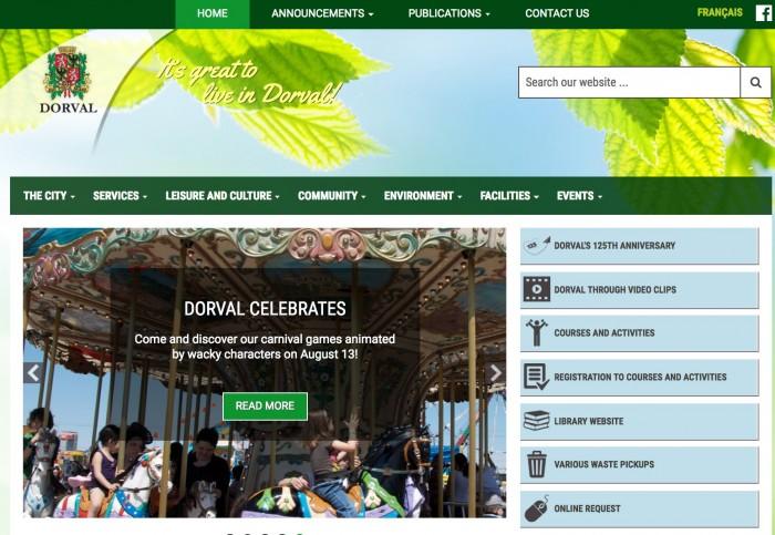 Dorval website