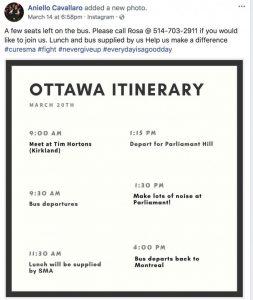 Protest, Ottawa, Cure SMA, Rhonda Massad, Aniello Cavallaro, Cure SMA, Sammy's Gala, Sammy Cavallaro
