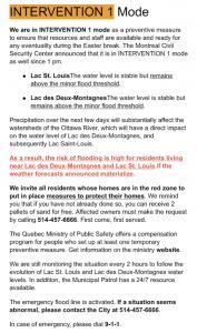Sainte Anne De Bellevue Boardwalk Flood 2019