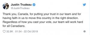 Canada Elects Justin Trudeau again!