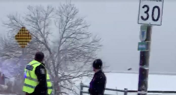 Man falls through ice West Island sunday