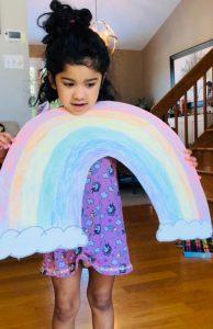 Rainbow in window