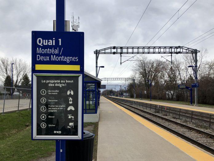 Pierrefonds-Roxboro Train station Deux Montagnes exotiques train line covid-19