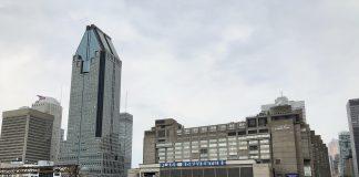montreal skyline downtown, city