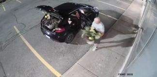 Saint-Charles flowers stolen robbery thief restaurant west island man stealing