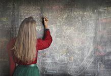 Teacher classroom school students test