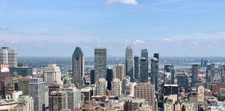 Montreal downtown city skyline