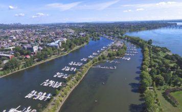 Lachine-Marina-Info-marina.ca-aerial-view-of-docked-boats