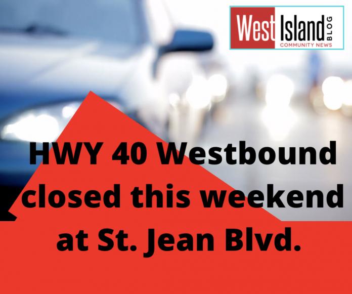 Hwy 40 Closure St. Jean