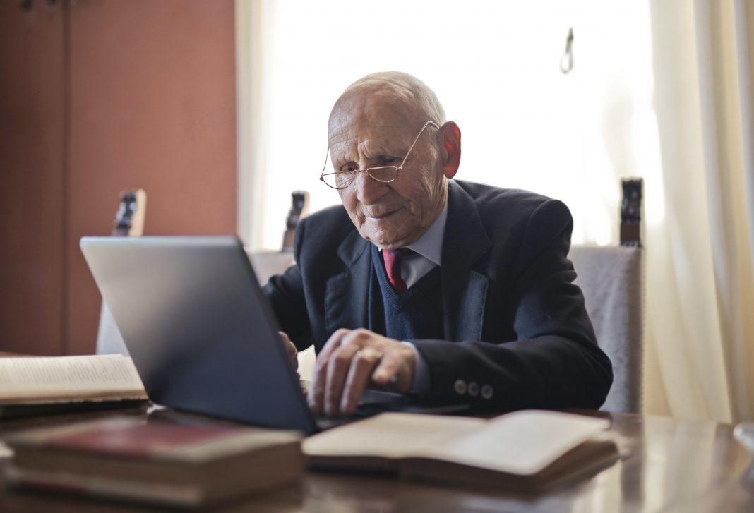 Senior laptop technology iPad