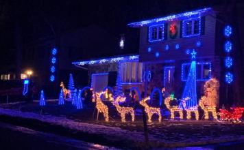 Christmas light shows Montreal