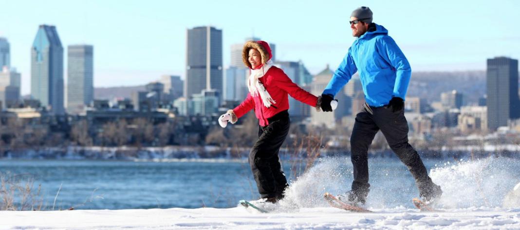 Snowshoeing Montreal winter activity fun snow